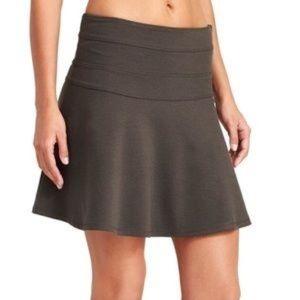 Athleta Ponte Twill Skyose Skirt Grey A Line Sz 12